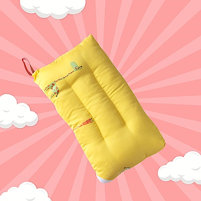 A-ONE 100%天絲 可水洗兒童枕/午睡枕/靠枕 一枕三用-長頸鹿