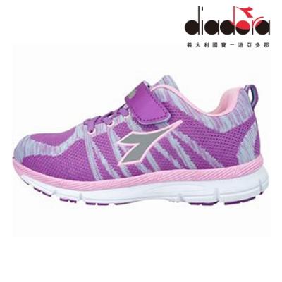 Diadora 兒童編織輕跑鞋 大童 加寬楦 紫 DA8AKR6387