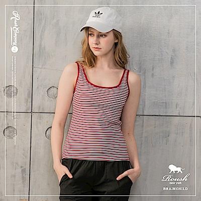 Roush 女生BRATOP罩杯式橫紋背心 (3色)