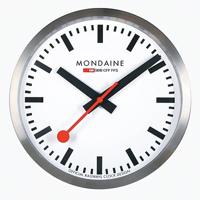 MONDAINE 瑞士國鐵經典40公分掛鐘