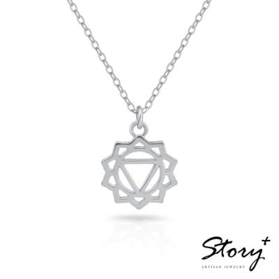 STORY故事銀飾-脈輪系列-太陽輪Solar Chakra 純銀鎖骨鍊