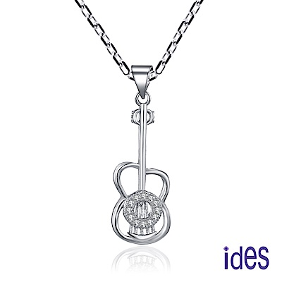 ides愛蒂思 時尚輕珠寶晶鑽項鍊/小吉他