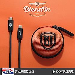 Blendin USB 3.1 Gen 2+PD驗證 Type-C 閃電快充傳輸線連接線