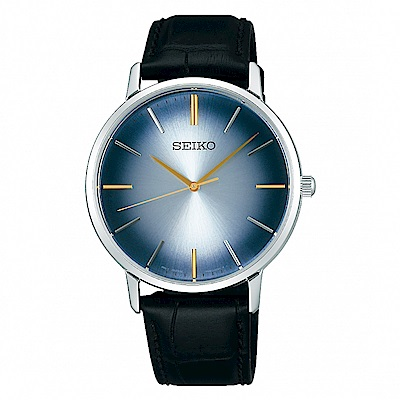 SEIKO 精工SPIRIT鋒芒再現真皮手錶SCXP125J-漸層藍/38mm