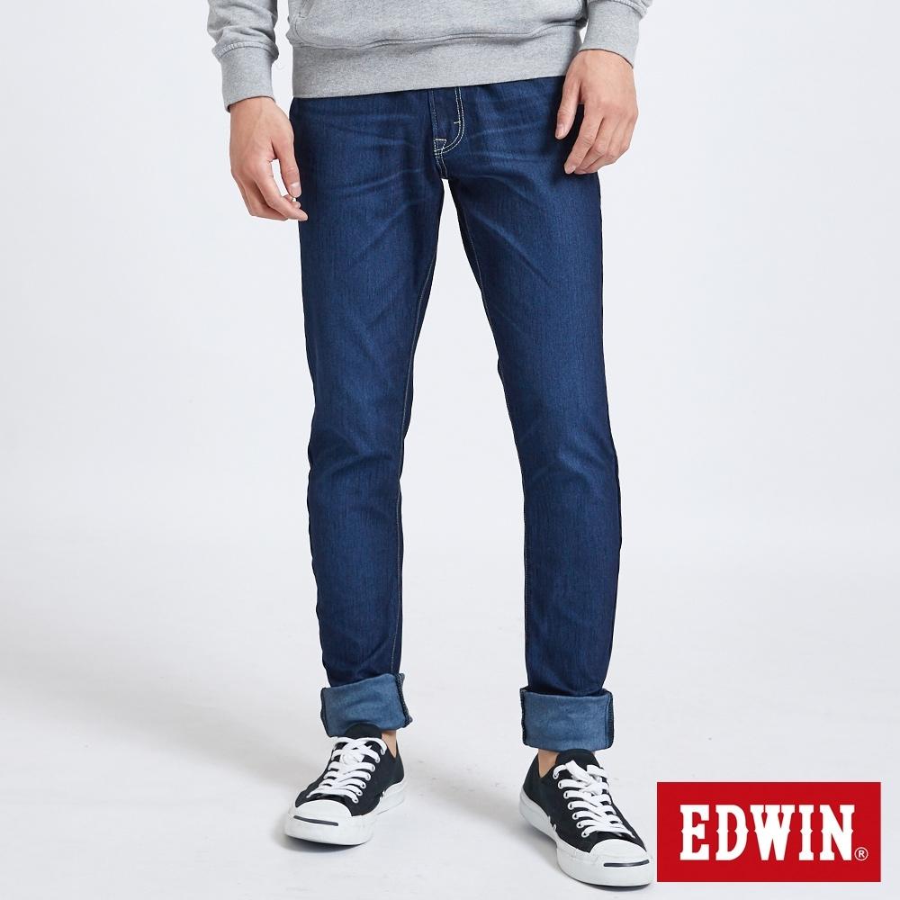 EDWIN JERSEYS 迦績假袋蓋AB牛仔褲-男-原藍磨