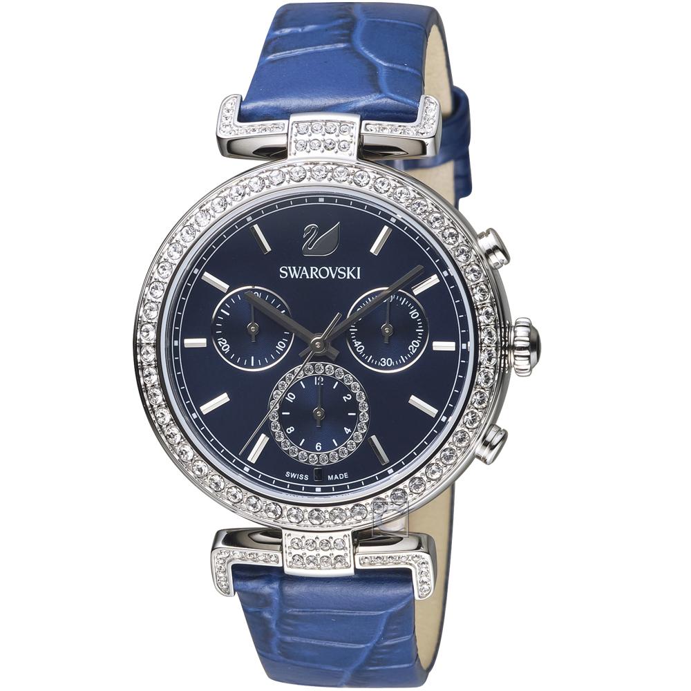 施華洛世奇SWAROVSKI Era Journey計時腕錶(5479239)-藍