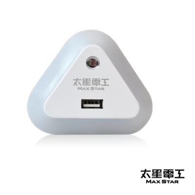 太星電工 Good night USB光感LED小夜燈- 暖白光 ZA201L