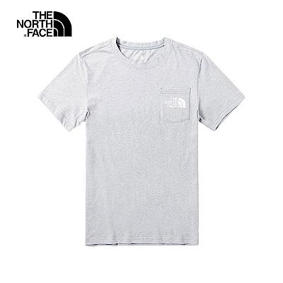 The North Face北面男款灰色舒適短袖T恤|46J3X8A