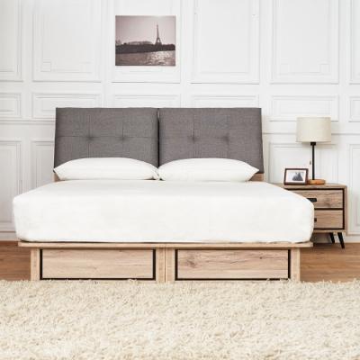 時尚屋 奧爾頓橡木6尺床箱型3件組-床箱+床底+床頭櫃(不含床墊)