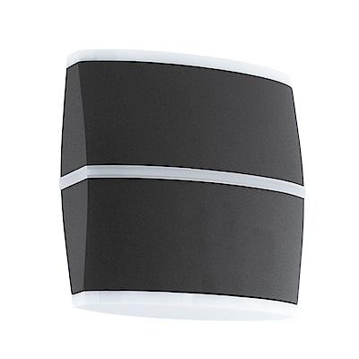EGLO歐風燈飾 現代黑LED曲面美型壁燈