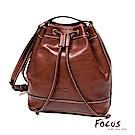 FOCUS經典原皮斜肩背水桶包(FTE7016)
