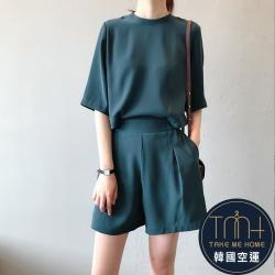 韓國空運 後排扣短褲套裝-2色-TMH