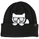 [時時樂限定] KARL LAGERFELD 卡爾貓圖案補丁羊毛針織帽-三款