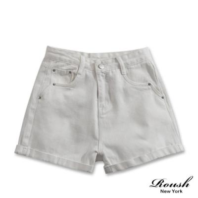 Roush 女生柔棉水洗牛仔短褲(2色)