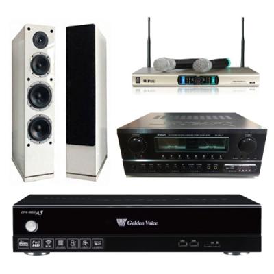 金嗓A5+SA-830U+AS-168+MR-3000D IV(伴唱機 4TB+卡拉OK套組)