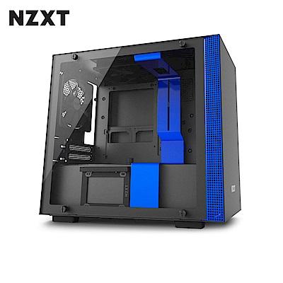 NZXT恩傑 H200 MINI-ITX 電腦機殼/鋼化側透玻璃-藍