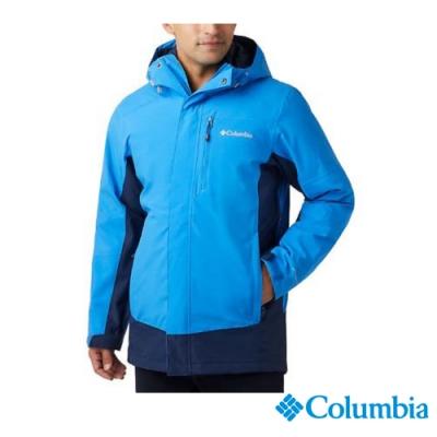 Columbia 哥倫比亞 男款- Omni TECH防水鋁點保暖外套-藍色