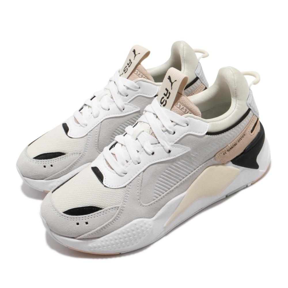 Puma 休閒鞋 RS X Reinvent 復古 女鞋 老爹鞋 厚底 麂皮 球鞋穿搭 米 白 37100805
