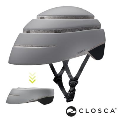 西班牙CLOSCA克羅斯卡 LOOP 單車/滑板/滑板車/電動車用折疊安全帽-灰/黑