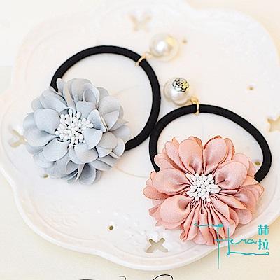 Hera 赫拉 山茶花朵韓版仿真珍珠髮圈
