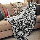 亞曼達Amanda 北歐風純棉針織四季毯 萬用毯 隨意毯 -花之語