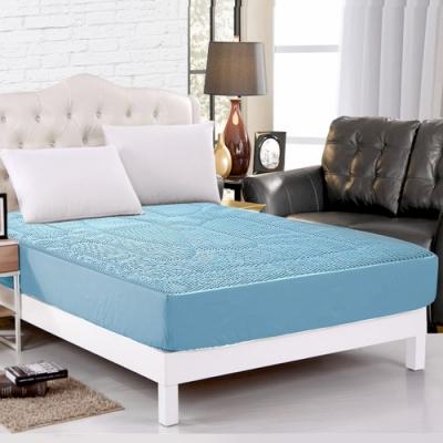 精靈工廠 新一代 3D超涼感床包式透氣床墊單人兩件套床包組 三色任選
