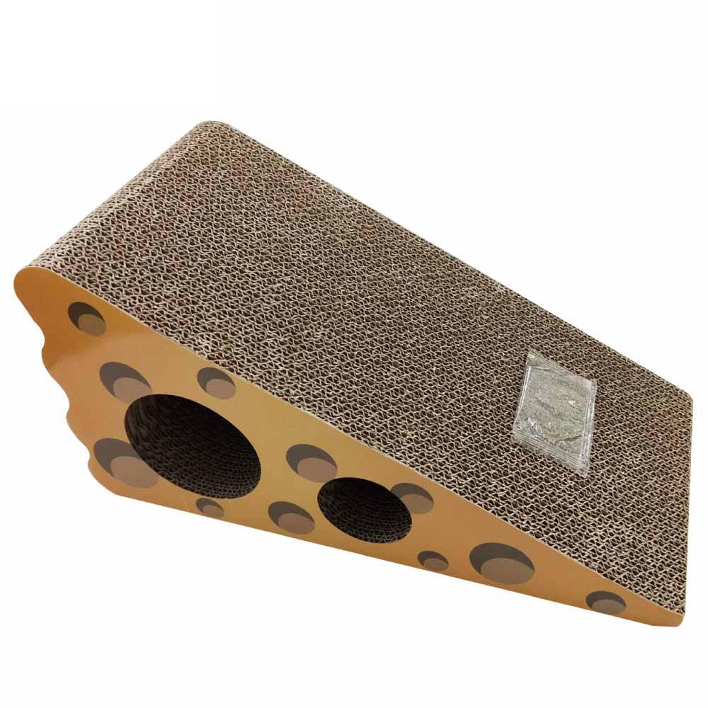 MDOBI摩多比-貓丸家 瓦楞紙 貓抓板-乳酪造型