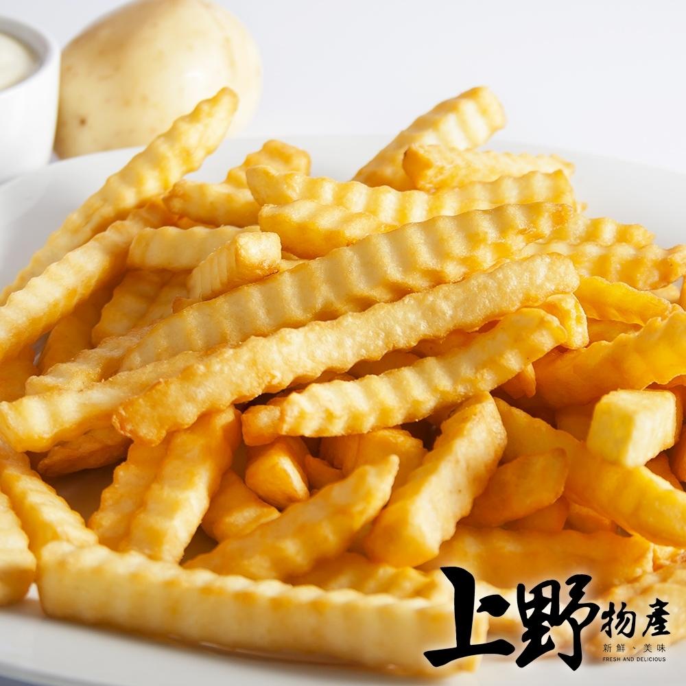 【上野物產】比利時產地直送 酥炸波浪薯條(250g±10%/包) x12包