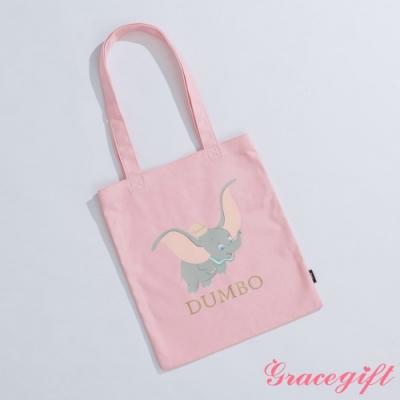 Disney collection by gracegift-櫻花小飛象圖案帆布袋 粉