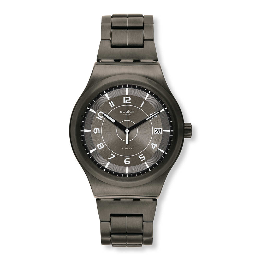 Swatch 51號星球機械錶 SISTEM BRUSHED 金屬刷痕手錶