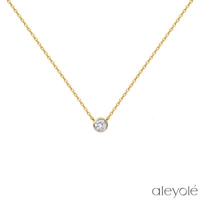 ALEYOLE 經典閃耀925純銀鍍18K金項鍊 SOUL GOLD