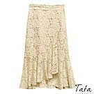 蕾絲雕花荷葉魚尾裙 共二色 TATA