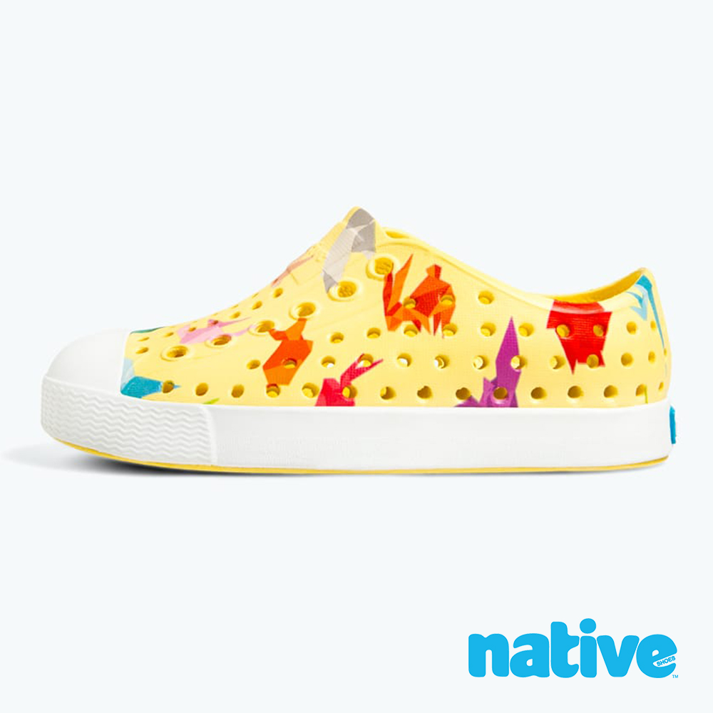 native JEFFERSON PRINT 大童鞋-摺紙黃