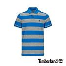 Timberland 男款灰色條紋 短袖POLO衫|A1LT1