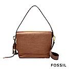 FOSSIL MAYA 俐落簡約真皮可加大側背/肩背兩用包-咖啡色