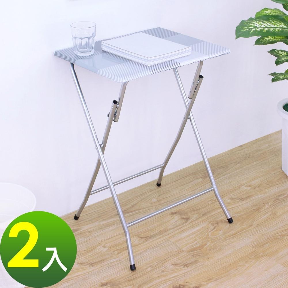 頂堅 高66公分-小型折疊桌 休閒摺疊桌 野餐露營桌 便利拜拜桌 折合邊桌-二色-2入/組