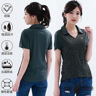 【遊遍天下】MIT女款吸濕排汗抗UV機能POLO衫GS10028黑色