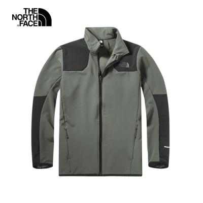 The North Face北面男款綠色保暖立領外套 46GL21L