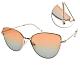 CARIN 太陽眼鏡  復古貓眼漸層款/玫瑰金-澄藍鏡片#NIGHT C1 product thumbnail 1