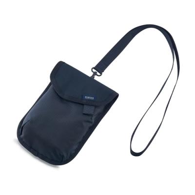 PORTER - 質感輕盈AIRY簡約頸掛收納小袋 - 深藍