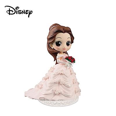 日本正版 Q posket A款 貝兒公主 公仔 美女與野獸 迪士尼 萬普 355383