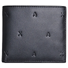 A|X ARMANI EXCHANGE AX 繽紛壓紋LOGO八卡對折短夾(黑)