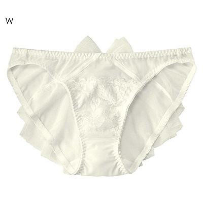 aimerfeel 臀部百褶薄紗內褲-白色-958821-W