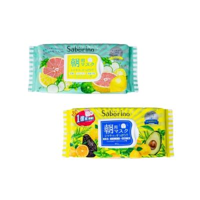 日本BCL SABORINO 早安面膜32枚入(黃/綠任選)