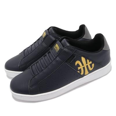 Royal Elastics 休閒鞋 Icon 無鞋帶 簡約 男鞋 皮革鞋面 穿搭推薦 刺繡LOGO 藍 黃 01912538