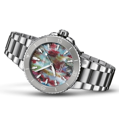 Oris 豪利時 Aquis Upcycle 潔淨海洋 環保日期腕錶 0173377704150-Set