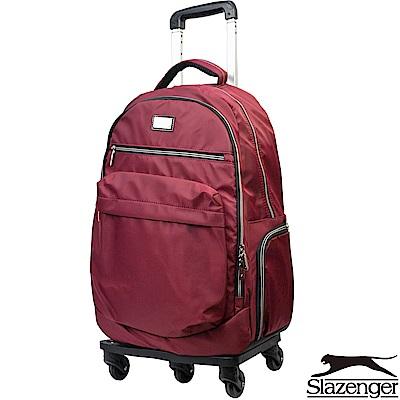 Slazenger 史萊辛格 21吋可拆式拉桿後背包(紅)