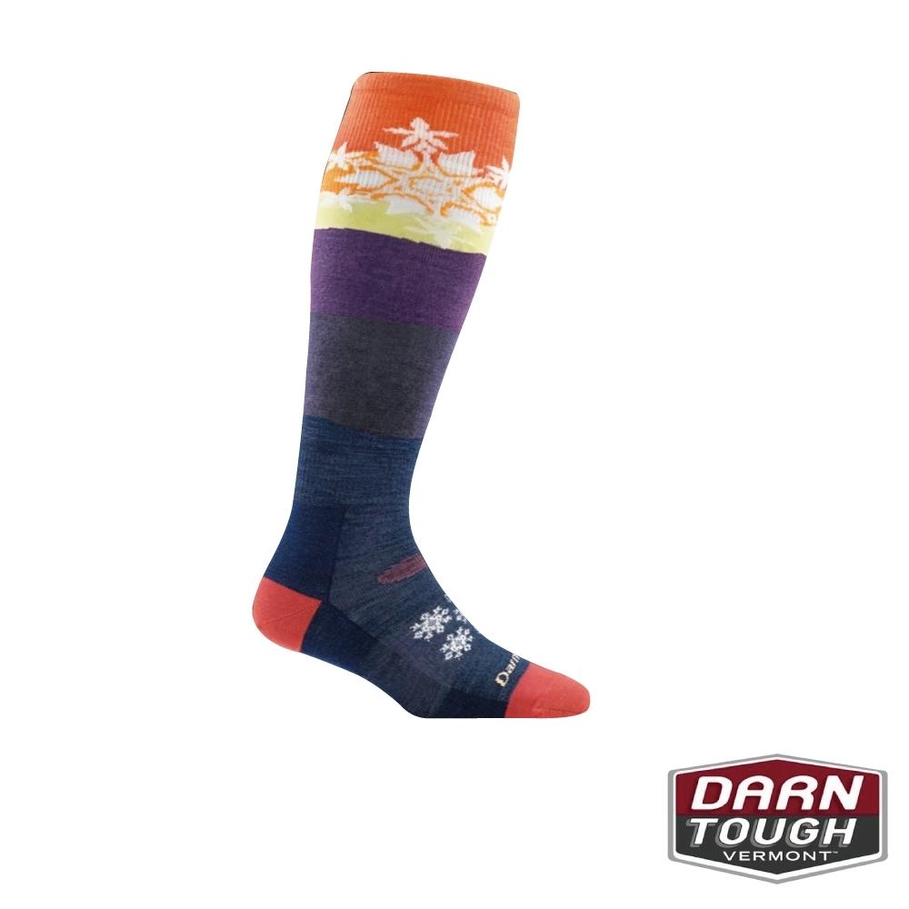 【美國DARN TOUGH】女羊毛襪Snowflake滑雪襪(隨機)