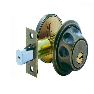 加安牌 外轉上鎖式 青古銅 單面輔助鎖 空轉防盜設計 輔助鎖 卡霸鑰匙 粉體塗裝 房間鎖 房門 辦公室