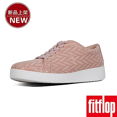 FitFlop RALLY CHEVRON-SUEDE SNEAKERS-灰粉